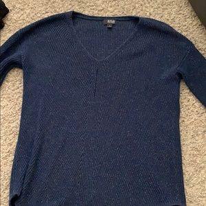 Long glitter blue sweater